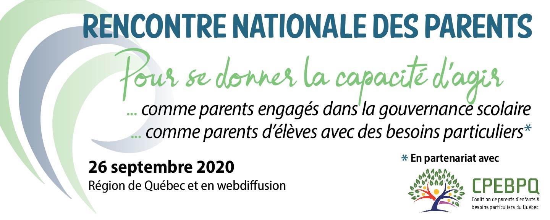 Rencontre nationale de parents 2020